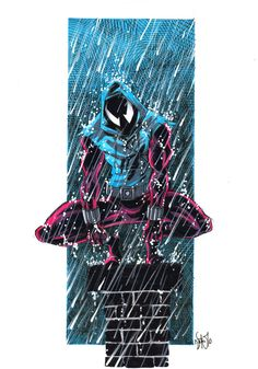 An awesome fan made picture of Scarlet Spider