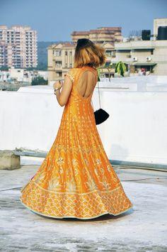 Anita Dongre | Akanksha Redhu | #ootd | full back twirl