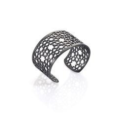 MESH BLACK TITANIUM BANGLE #jewelry  #fashion