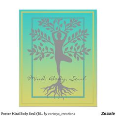 Shop Poster Mind Body Soul (Blue/Yellow) created by caristys_creations. Mind Body Soul, Body And Soul, Spa Art, Meditation Art, Bathroom Wall Art, Custom Posters, Custom Framing, Blue Yellow, Mindfulness