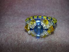 X's and O's - Blue and Yellow Ring