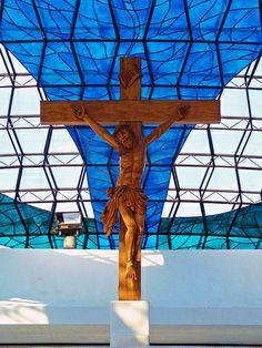 Catedral de Brasília - Oscar Niemeyer - Catedral - Detalhes - Religião - Fé - Brasília - Brasil - Brazil