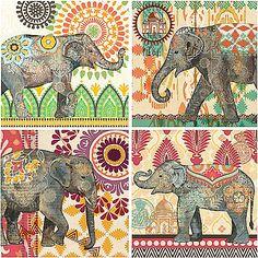 caraban elephants wall art