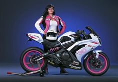 Motorcycle - Pink Motorcycles - Kawasaki Ninja 650 customized by Marti Randall's husband