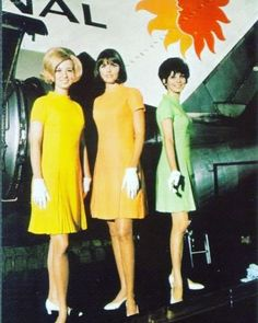 National Airlines Flight Attendants On Wow Air, Airline Uniforms, National Airlines, Intelligent Women, Airline Flights, Sixties Fashion, Cabin Crew, Flight Attendant, Sexy