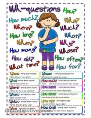 Questions - poster worksheet - iSLCollective.com - Free ESL worksheets
