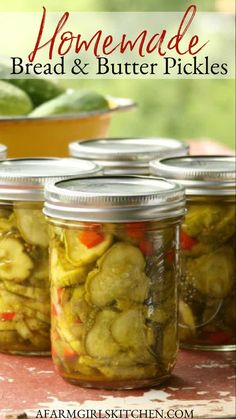 Home Canning Recipes, Canning Tips, Cooking Recipes, Canned Salsa Recipes, Easy Canning, Kitchen Recipes, Bread N Butter Pickle Recipe, Bread & Butter Pickles, Canning Vegetables