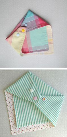 Hankerchief bibs. Adorable!