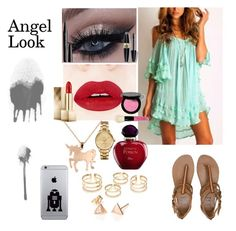 """""""Angel Look"""" by sumoraeszanna on Polyvore featuring Louche, Max Factor, Marc Jacobs, Bobbi Brown Cosmetics, Burberry, Christian Dior, Billabong, Lacoste, women's clothing and women's fashion"""