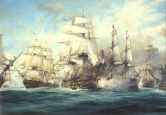 A portrayal of Battle of Trafalgar from www.historum.com