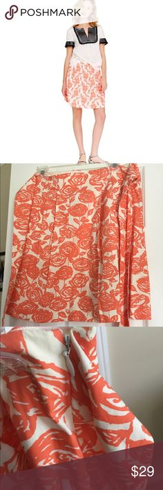 """J.CREW floral skirt Excellent condition 17""""long Aproxm modeled pic is to show fit and styling inspiration only. Ties to the back side zipper J. Crew Skirts"""