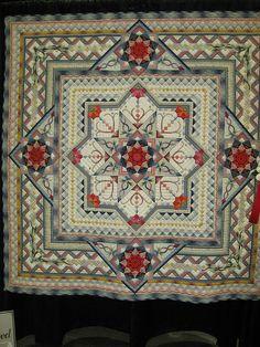 Beautiful pieced plus applique quilt