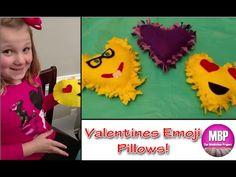 The MaddyBoo Project: Valentine Emoji Pillows Craft!