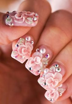 Japanese Nail Art Inspiration is it crazy i luv this? There are more nail options to choose from. Nail Art 2014, 3d Nail Art, 3d Nails, Nail Arts, Pink Nails, Acrylic Nails, Nails 2015, Star Nails, Girls Nails