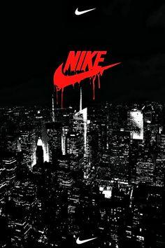 Nike Wallpaper, Black Wallpaper, Mobile Wallpaper, Faze Logo, Just Do It, Aesthetics, Smoke, Wallpapers, Movie Posters