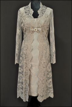 Mother of the bride and groom Vintage lace Dress and Coat Hats | Joyce Young