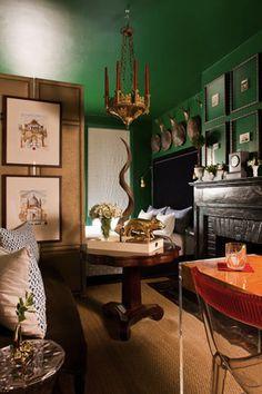 Matthew Bees' emerald apartment, House Beautiful.