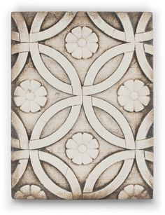 Memory Blocks are hand crafted plaster, finished to a porcelain-like quality, cracked to create an aged look and feel. Each Memory Block is made from hand-poured plaster. Each tile is hand-painted by