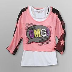 ed42d1b3 Girls Shirts and Tees: Shop for Trendy Shirts for Girls Kmart