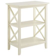 Pier 1 -Kenzie Antique White Accent Table - possible foyer table?