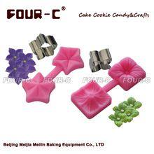 2 sets flor de silicona torta del molde y el cortador, herramientas fondant cake…
