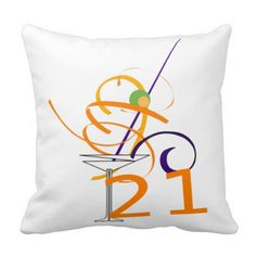 21st #Cocktail #Gift # Cushion#