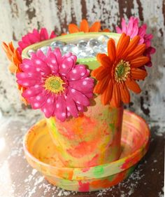 Enriching Teens Bedroom Decor with DIY Crafts for Teens: Easy Crafts For Teens With Flower Pot Crafts ~ etikaprojects.com DIY Craft Inspiration