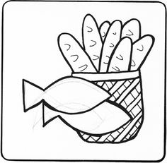 Loaves And Fish Colouring Pages Page 2