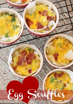 Egg souffles are a perfect addition to your breakfast or brunch menu. Check out our egg souffle recipe and tutorial to make your own! Egg Recipes, Great Recipes, Cooking Recipes, Favorite Recipes, Bacon Recipes, Yummy Recipes, Frittata, Quiches, Frugal Meals
