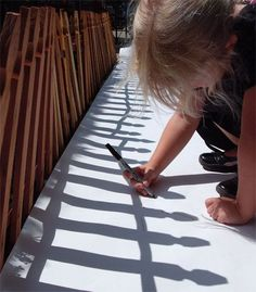 Shadow tracing ~ so simple, yet so brilliant. After the first tracing, wait a few hours and kids trace again. Great science discussion about the movement of the sun.