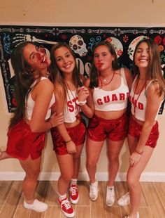 35 Cutest, Craziest & Coolest Group Halloween Costumes for your Girl Squad - Hike n Dip Check out best Group Halloween costumes idea that'll make your girl squad shine like never before. Flaunt your friendship with these Group Halloween Outfits Halloween Costume Teenage Girl, Lifeguard Halloween Costume, Halloween Costumes For Teens Girls, Cute Group Halloween Costumes, Trendy Halloween, Halloween Outfits, Costumes Kids, Halloween Ideas, Women Halloween