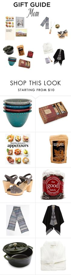 """Gift Guide for My Momma"" by philomenesworld ❤ liked on Polyvore featuring Zak! Designs, Martha Stewart, Swedish Hasbeens, Burberry, Staub, Coyuchi and Laura Mercier"