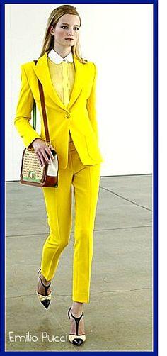 Emilio Pucci yellow suit