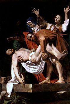 Entierro de Cristo (Deposizione) Caravaggio, Hacia 1602-1604 Óleo sobre lienzo • Barroco 300 cm × 203 cm Museos Vaticanos, Ciudad del Vaticano