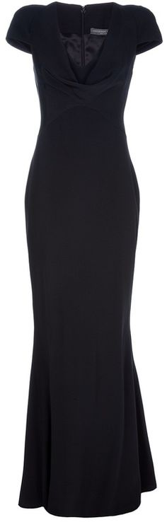 Alexander Mcqueen Long Silk Dress in Black