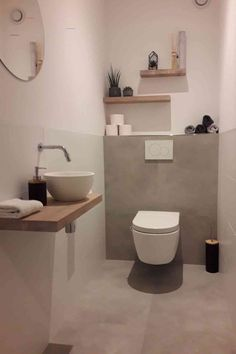 Small Downstairs Toilet, Small Toilet Room, Guest Toilet, Downstairs Bathroom, Wc Design, Toilet Design, Bathroom Design Small, Bathroom Interior Design, Toilet Room Decor