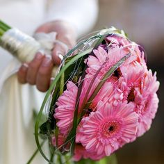 Simply Stunning Gerbera Wedding Bouquet.... This is EXACTLY what I want for my bouquet (with Hot Pink for me, and Light pink for my bridesmaids!)