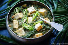 KNUSPERKABINETT: Veganes Palak Paneer (ohne Tofu)