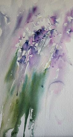 Bluebell Hues Original Watercolour 2014 by Jean Haines