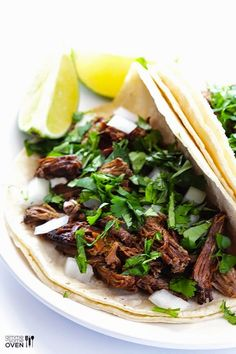 Slow Cooker Barbacoa Beef from Gimme Some Oven [Featured on SlowCookerFromScratch.com]