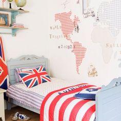 Dromen van verre reizen..... Echt een klassieker, dit behang van Room Seven. Maar oh zo mooi!