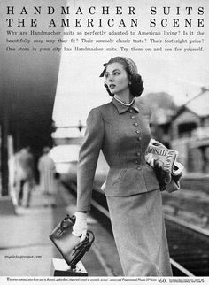 Suzy Parker for Handmacher Suits, 1952