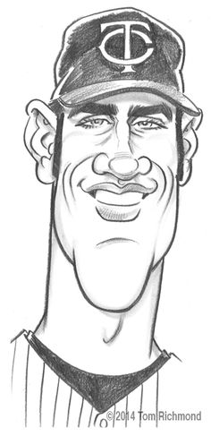 With less than a month before MLB pitchers and catchers report to camp, this week's Sketch o'the Week is local Minnesota Twins catcher first baseman Joe Mauer. This is a quick, live-car…