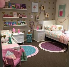 20 Perfect Kids Room Design Ideas For Your Children. 20 Perfect Kids Room Design Ideas For Your Children. Kid's room decorating ideas, kid's room layout and bedroom colors for kids should be driven by one guiding theme: Fun. Sister Bedroom, Girls Bedroom, Twin Girl Bedrooms, Girls Room Wall Decor, Room Girls, Bedroom Wall, Girl Bedroom Designs, Bedroom Ideas, Bedroom Colors