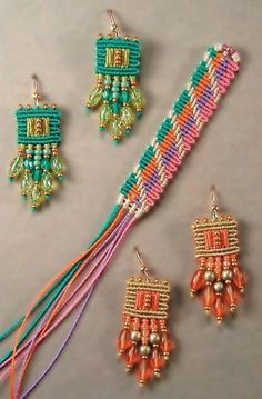 Micro Macrame Earring Patterns | 00 click the add to cart button ...