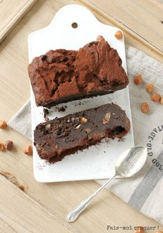 Brownie Green & Healthy {sans farine ni beurre} à l'avocat - Fais moi croquer !