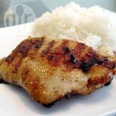 Photo recette : Poulet à l'indienne au barbecue