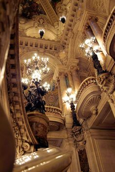 An interior view of the Paris Opera Garnier.
