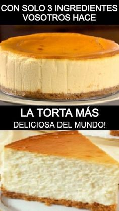Baking Recipes, Cake Recipes, Dessert Recipes, No Bake Desserts, Easy Desserts, Hispanic Dishes, Cheesecake Cake, Creative Food, Cakes And More