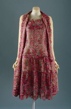 "Day ensemble, ca. 1927 Gabrielle ""Coco"" Chanel (French, 1883–1971) Silk, wool"